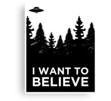 I want to believe Aliens Canvas Print