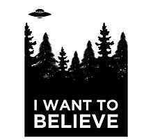 I want to believe Aliens Photographic Print