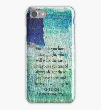 Life Inspirational ocean quote iPhone Case/Skin