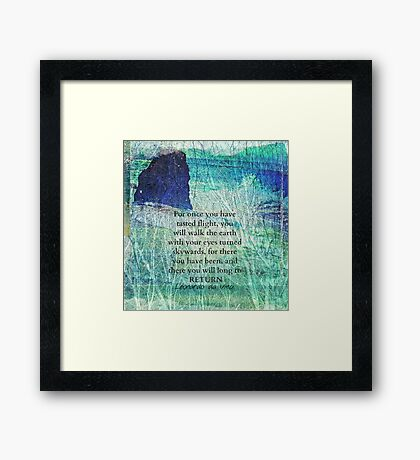 Life Inspirational ocean quote Framed Print