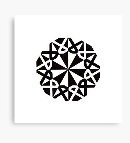 Mandala #216 || Mono Canvas Print
