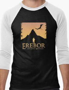 Erebor - The Lonely Mountain (The Hobbit) Men's Baseball ¾ T-Shirt