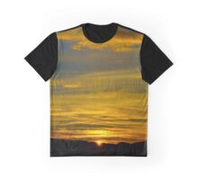 Colorful sunset in alsacien mountains near Mont Sainte-Odile, France Graphic T-Shirt