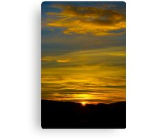Colorful sunset in alsacien mountains near Mont Sainte-Odile, France Canvas Print