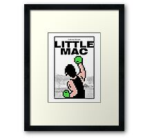 Punch-Out - Little Mac Rocky Poster Framed Print