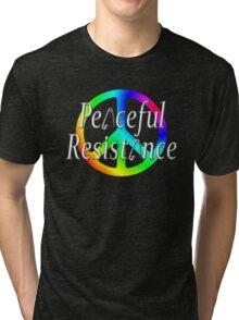 #Peaceful #Resistance - Rainbow, small Tri-blend T-Shirt