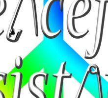 #Peaceful #Resistance - Rainbow, small Sticker