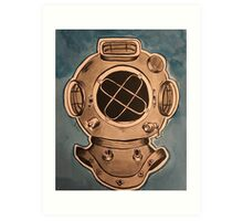 Diving Helmet Print Art Print