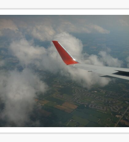 view from a plane  Sticker