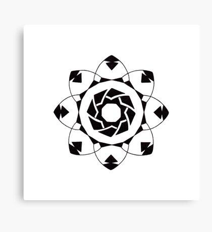 Mandala #217 || Mono Canvas Print
