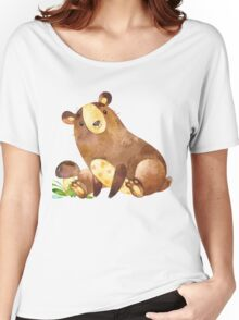 Cute Watercolor Woodland Baby Bear  Women's Relaxed Fit T-Shirt