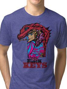 The Black keys Smokey  Dragon  Tri-blend T-Shirt