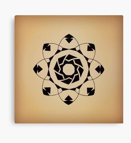 Mandala #217 || Tan Canvas Print