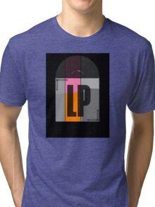 Black Stereo LP Vinyl Record Album Tri-blend T-Shirt