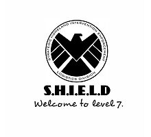 S.H.I.E.L.D- welcome to level 7 Photographic Print