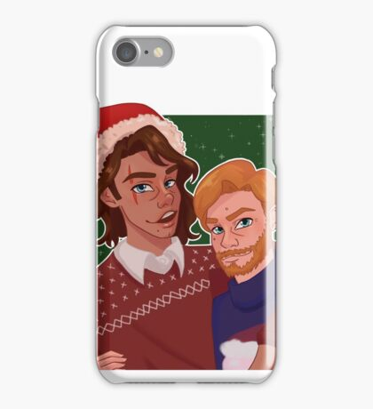 Christmas Obi and Ani iPhone Case/Skin