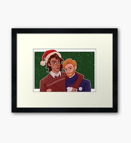 Christmas Obi and Ani Framed Print