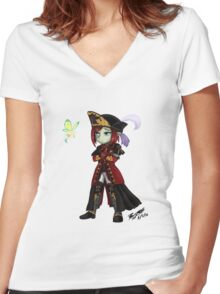 Mia Frydbharwyn Chibi with Eos Women's Fitted V-Neck T-Shirt