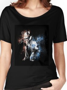 Portal Orange and Blue Women's Relaxed Fit T-Shirt