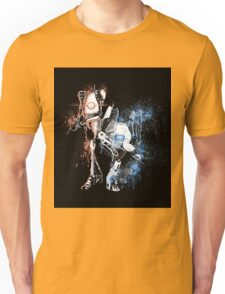 Portal Orange and Blue Unisex T-Shirt