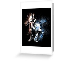 Portal Orange and Blue Greeting Card