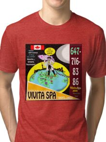 Vivita Spa, Toronto, Ontario, Canada Poster Artwork Tri-blend T-Shirt