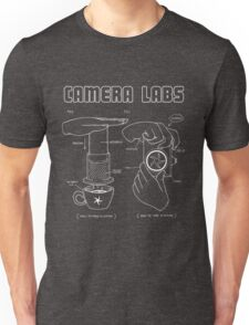 Cameralabs Photography and Coffee (White artwork) Unisex T-Shirt