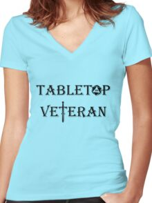 Tabletop Veteran Women's Fitted V-Neck T-Shirt