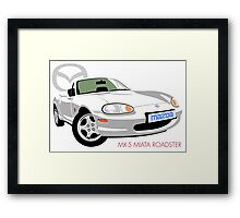 Mazda MX-5 Miata NB white Framed Print