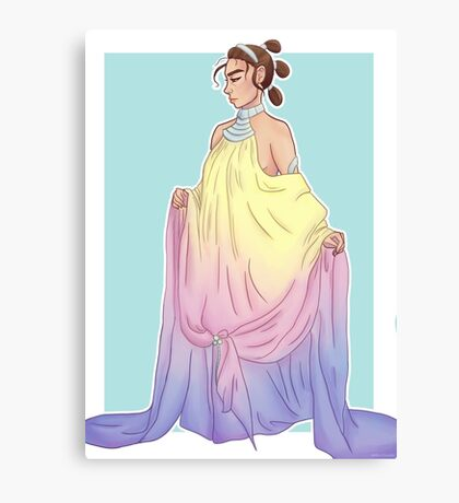 Rey in Padmé dress Canvas Print