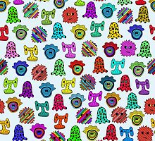 pattern with monsters by ulyanaandreeva