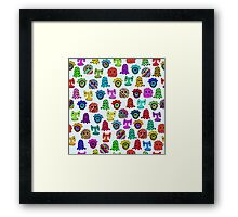 pattern with monsters Framed Print