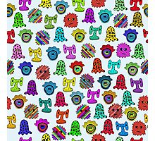 pattern with monsters Photographic Print