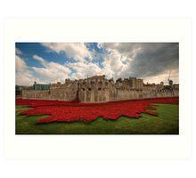 Tower of London Remembers.  Art Print