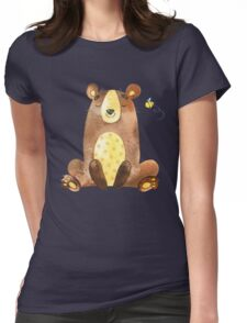 Cute Adorable Watercolor Woodland Baby Bear  Womens Fitted T-Shirt
