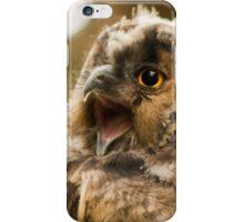 eagleowl yawning iPhone Case/Skin