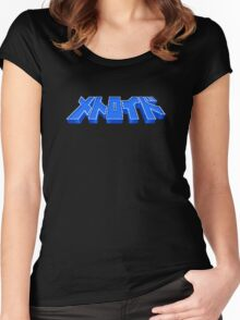 Famicom Metroid Title Women's Fitted Scoop T-Shirt