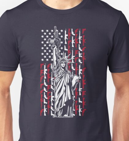 Never Disarm America Gun T-Shirt Right To Bear Arms USA Liberty Tee Unisex T-Shirt
