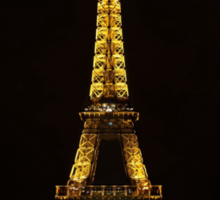 Paris - Eifel Tower by night Sticker