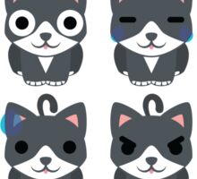 Lovely Cat Emoji Different Facial Expressions Sticker