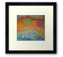 Spanish Landscape Framed Print