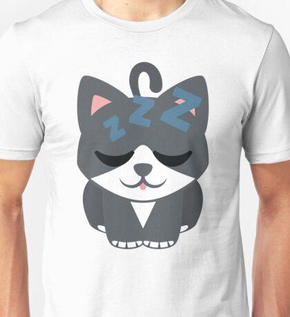 Lovely Cat Emoji Sleepy and ZZZ Face Unisex T-Shirt