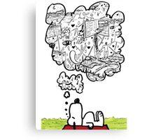 Snoopy Dreams Canvas Print
