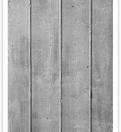 Board marked concrete, vertical texture Sticker