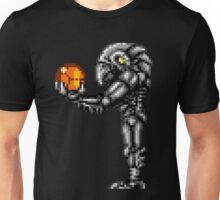 Chozo Holding Samus T-shirt - Standing Version Unisex T-Shirt