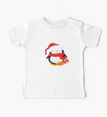 cute little xmas penguin Baby Tee