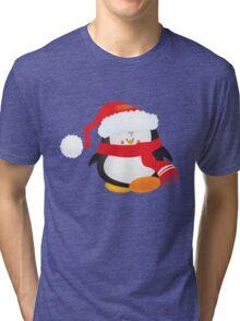 cute little xmas penguin Tri-blend T-Shirt