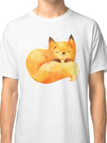 Cute Adorable Watercolor Woodland Baby Fox Classic T-Shirt
