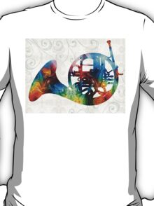 Colorful French Horn - Color Fusion By Sharon Cummings T-Shirt