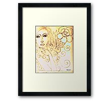 """Beauty is in every fair face, in every fair sky, in every fair flower, and thank God for it as a cup of his blessing.""""  Framed Print"""
